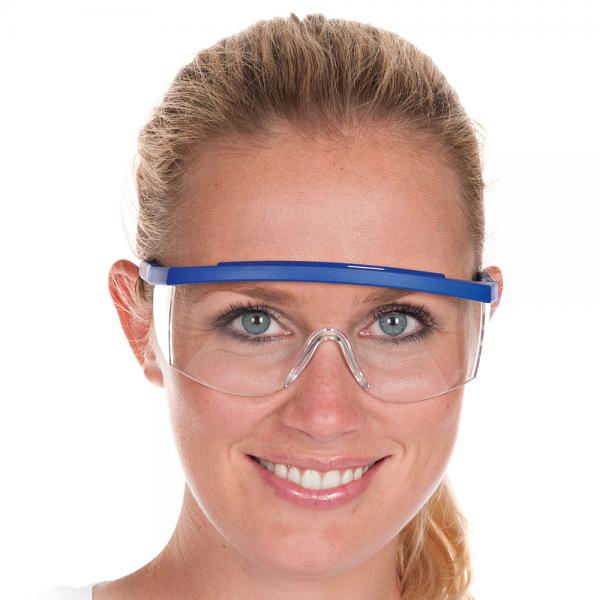 Allzweckschutzbrille BLAU verstellbar transparent