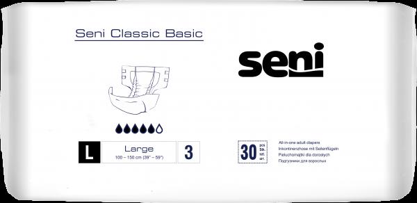 Seni CLASSIC BASIC - Windeln mit Außenfolie, Gr. M