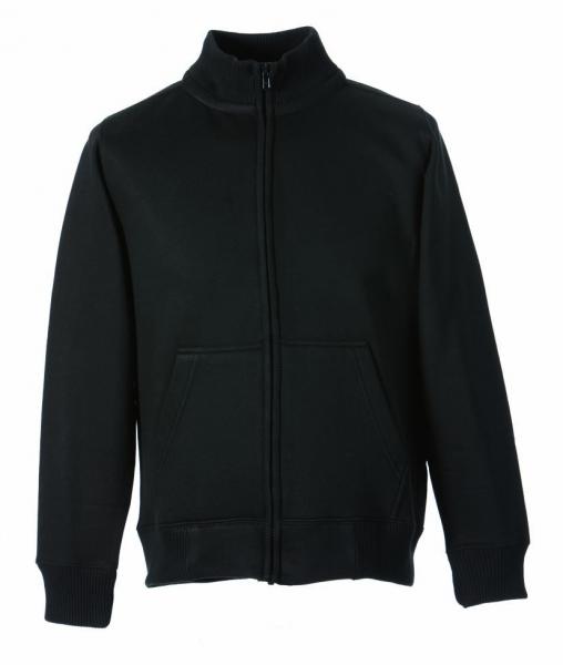 Stehkragen-Sweat-Jacke schwarz XS - 5XL