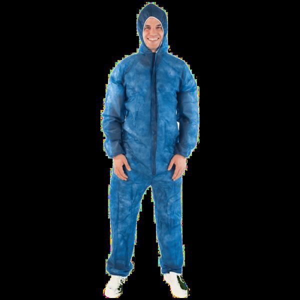 Overall mit Kapuze, blau
