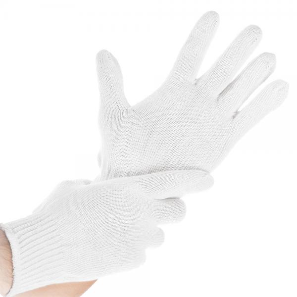 Baumwoll-Handschuh BÜNDCHEN LIGHT, weiß