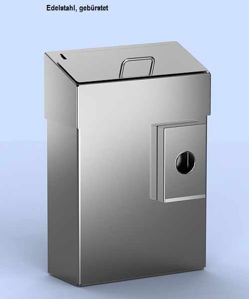 Abfallbehälter mit Hygienebeutelspender und Schleusenklappe 10 Liter