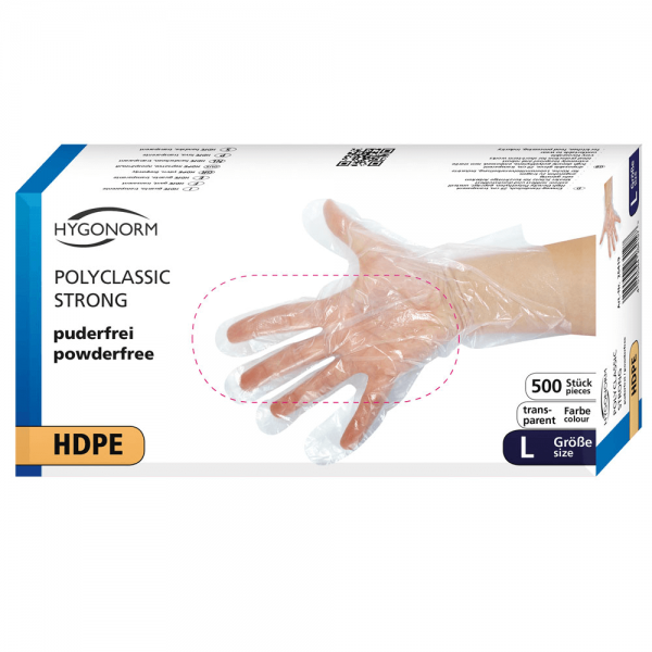 HDPE-Handschuhe transparent POLYCLASSIC STRONG - Box