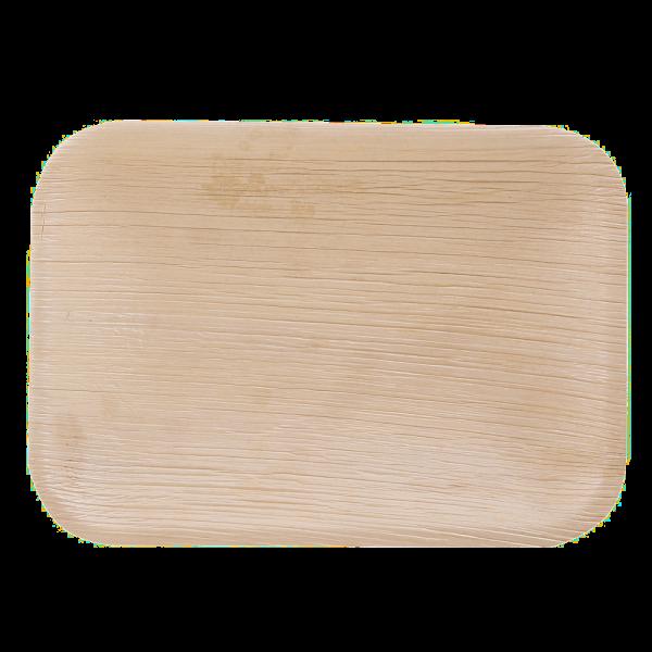 Teller aus Palmblatt rechteckig 24 x 15,5 x 1,5 cm, natur