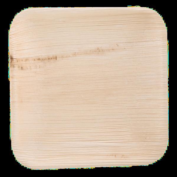 Teller aus Palmblatt quadratisch 18 x 18 x 2 cm, natur