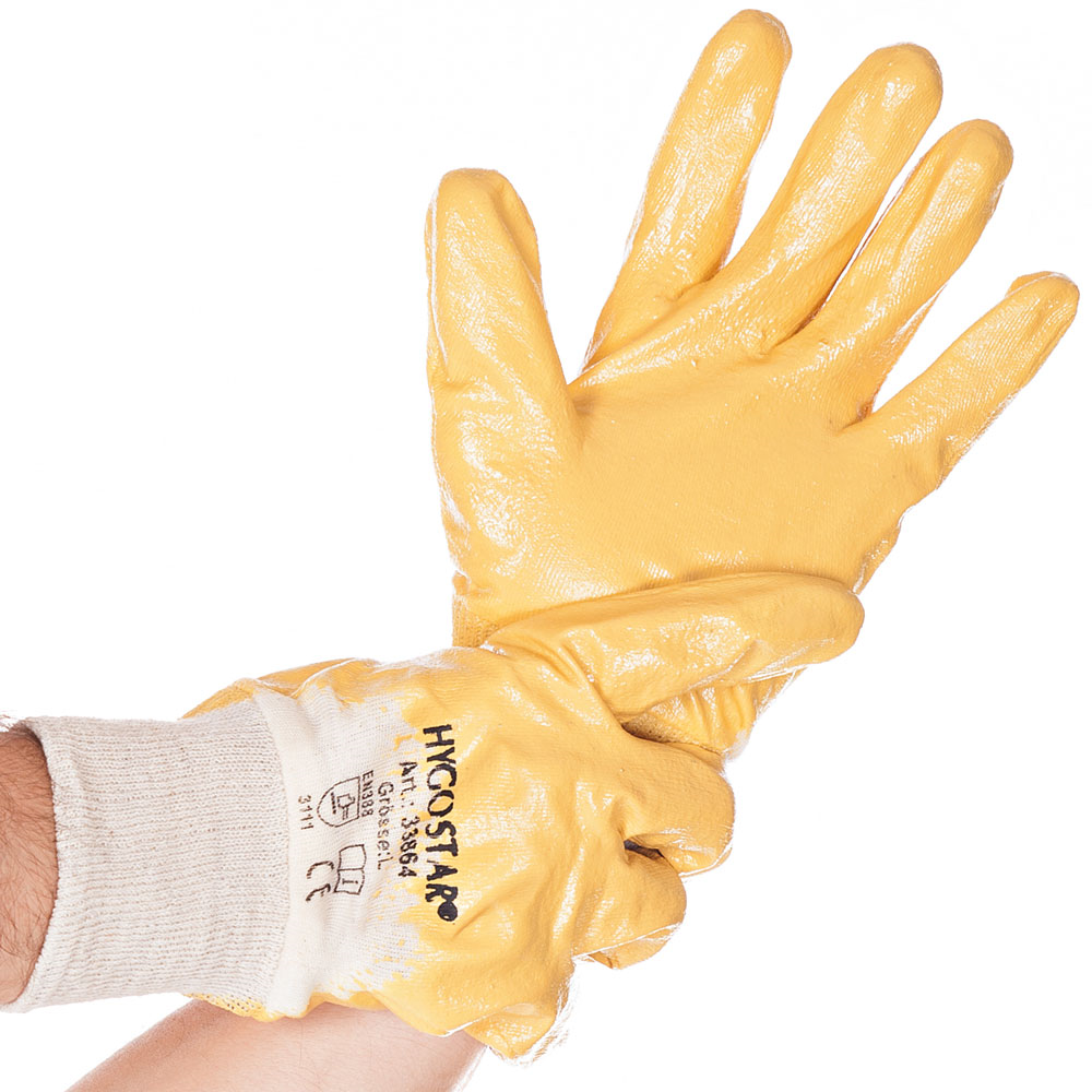 10 XL Gelbe Nitrilhandschuhe 40 Paar Arbeitshandschuhe Handschuhe Gr