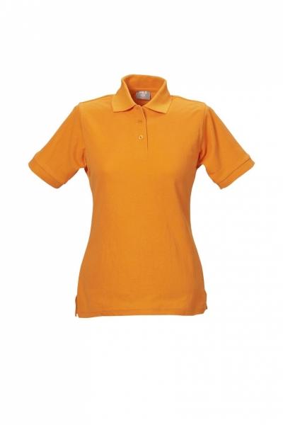 Damen Polo-Shirt orange