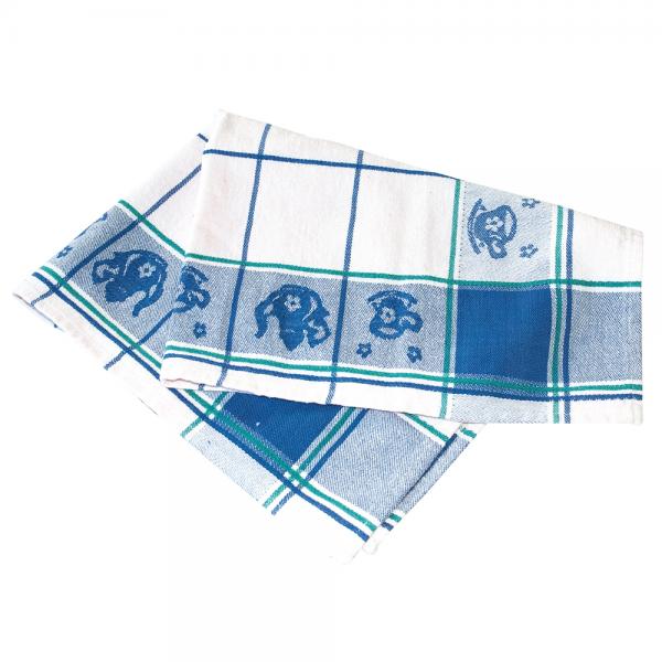 Küchentuch LANDHAUS 70 x 50 cm weiß-blau