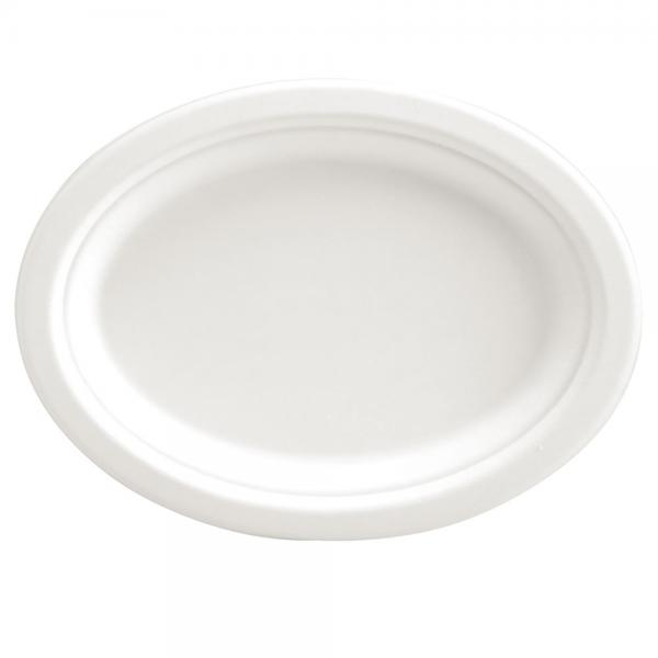 Bio-Teller weiß oval 26,5x20 cm von NATUREStar -VE 250 Stck.