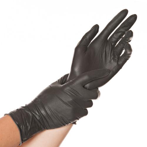hygostar latex handschuh diablo schwarz puderfrei von franz mensch ve 100 stck. Black Bedroom Furniture Sets. Home Design Ideas