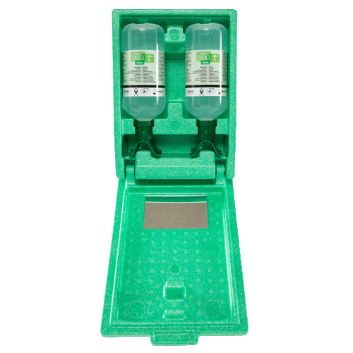 Augenspülstation in Wandbox DUO 2x1000ml