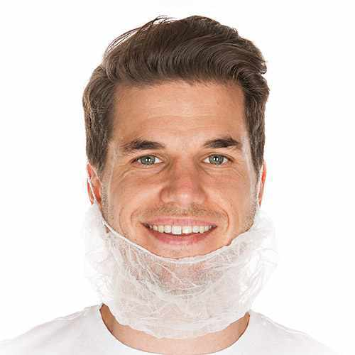 Bartschutz weiß aus PP-Vlies HYGOSTAR - VE 10x100 Stück