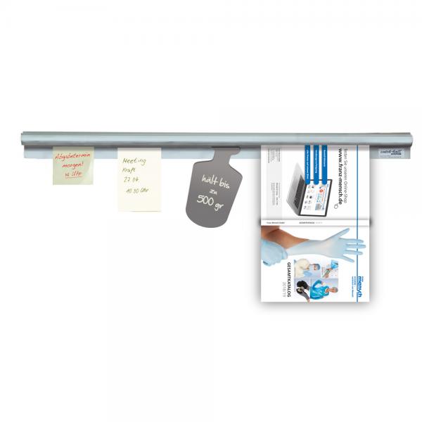 Bonschiene Catch-ball-System Infobord POWERGRIP silber 100 cm