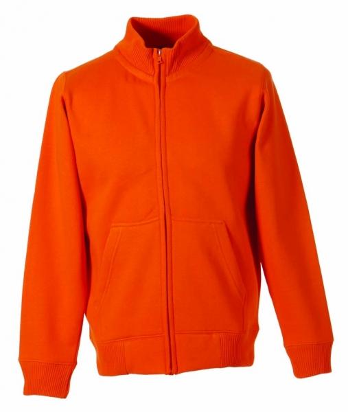 Stehkragen-Sweat-Jacke orange