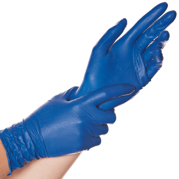 Latex-Handschuh SOFT BLUE, puderfrei, 24 cm, blau