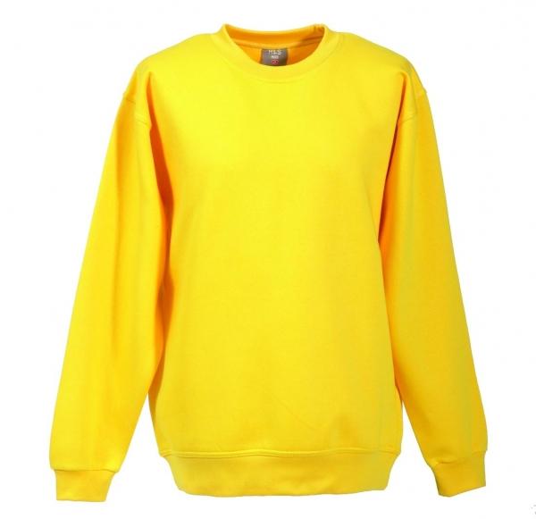 Langarm Sweat-Shirt mit Rundkragen gelb