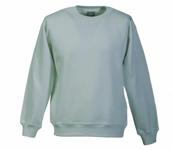 Langarm Sweat-Shirt mit Rundkragen grau XS - 5XL