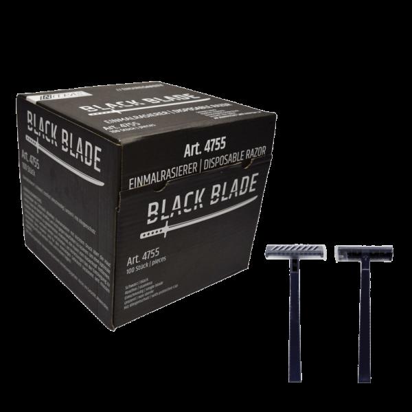 Einmal Rasierer schwarz einschneidig BLACK BLADE - VE 100 Stück