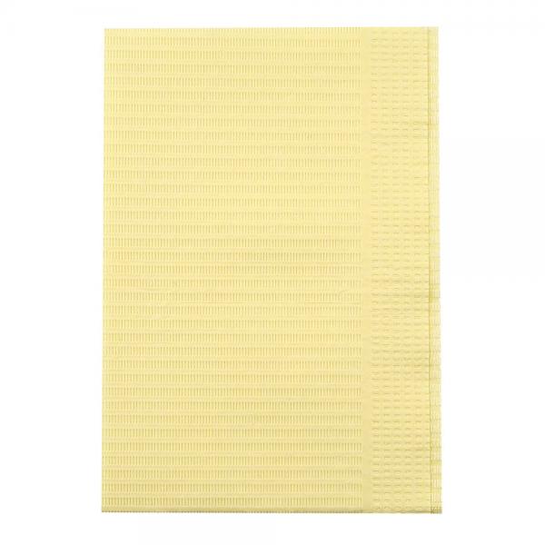 Patientenservietten Zahnarzt gelb 33 x 46 cm