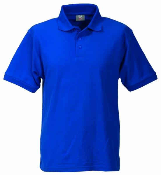 Unisex Polo-Shirt royalblau