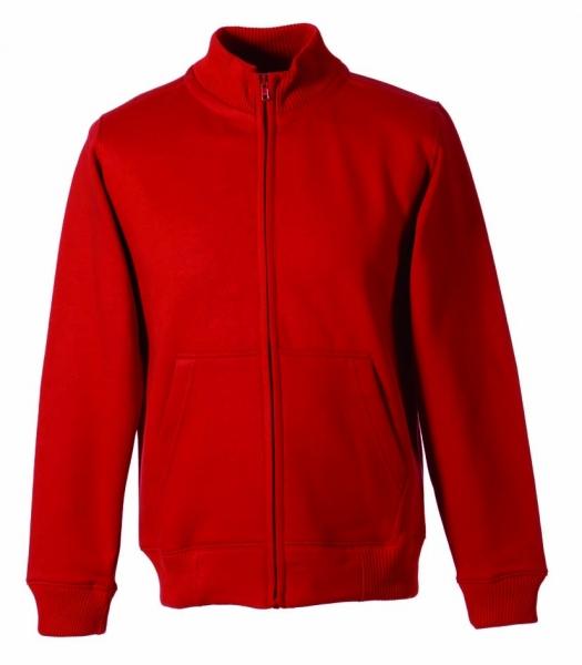 Stehkragen-Sweat-Jacke rot XS - 5XL