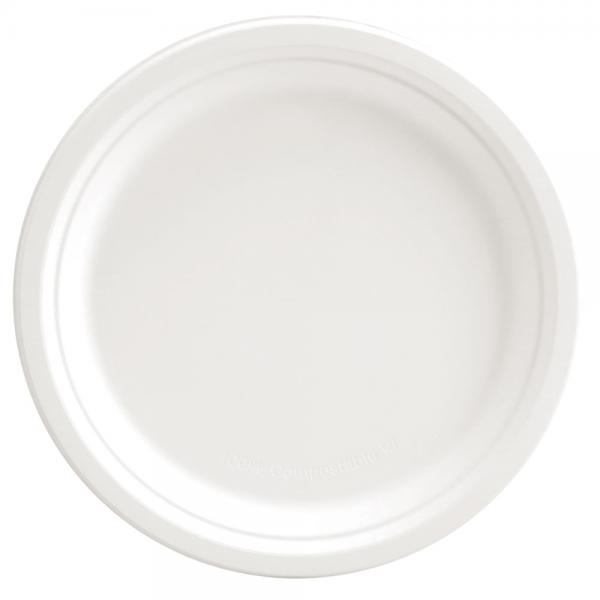 Bio-Teller weiß rund Ø 15 cm