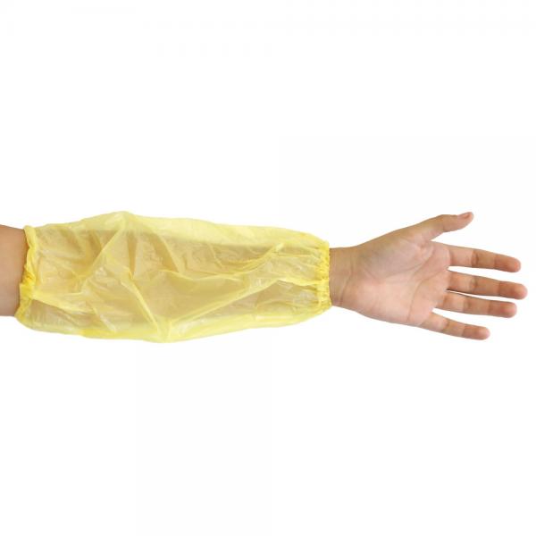Schutzärmel gelb aus Polyethylen 20 my