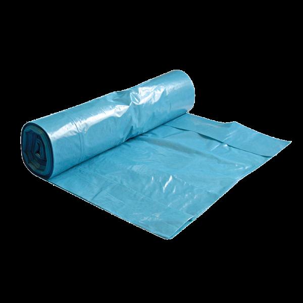 LDPE Müllbeutel 70 l auf Rolle blau