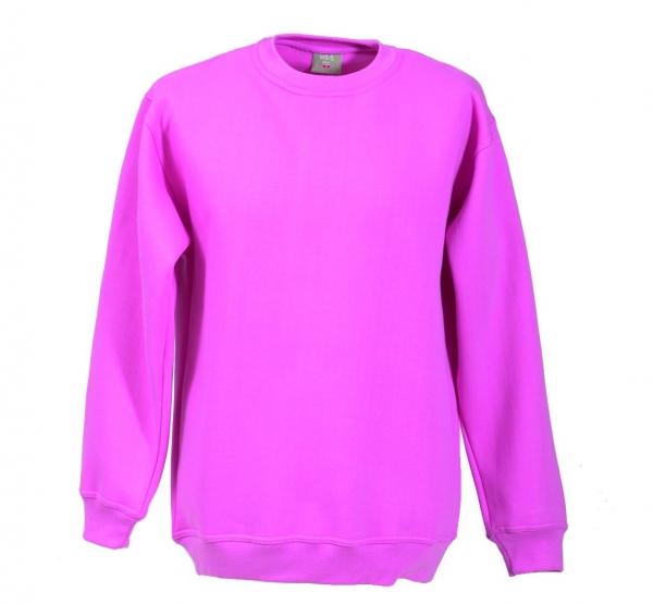 Langarm Sweat-Shirt mit Rundkragen pink XS - 5XL
