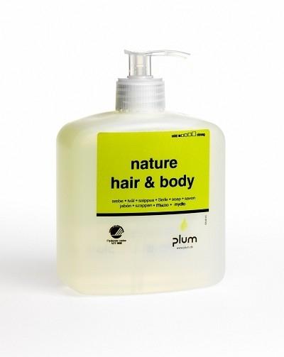 Cremeseifen Nature Hair & Body, 500 ml Pumpflasche - PLUM