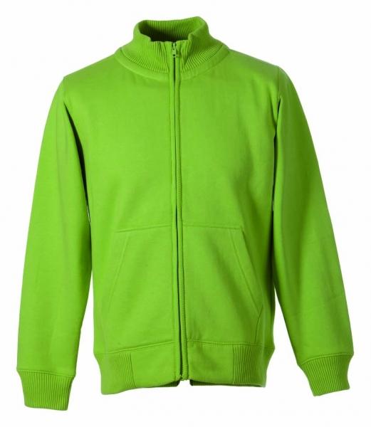 Sweat-Jacke apfelgrün mit Stehkragen - Sweatshirt-Jacke von FAPAK