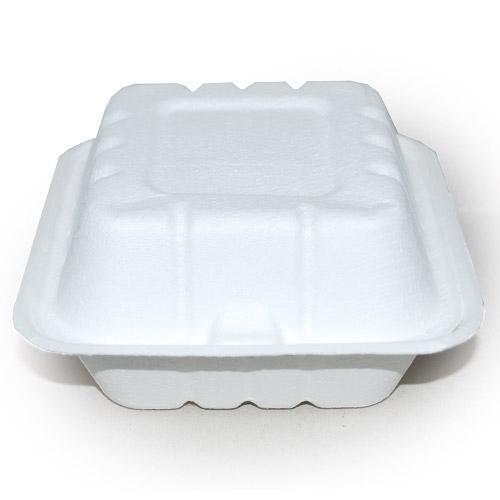 """BIO Lunchbox """"Hamburger"""" rechteckig 18,5x13,5x6,5cm weiß"""