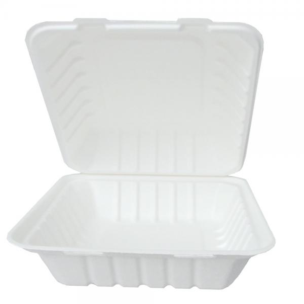 """BIO Lunchbox """"Hamburger"""" rechteckig 22,5x20x9cm weiß"""