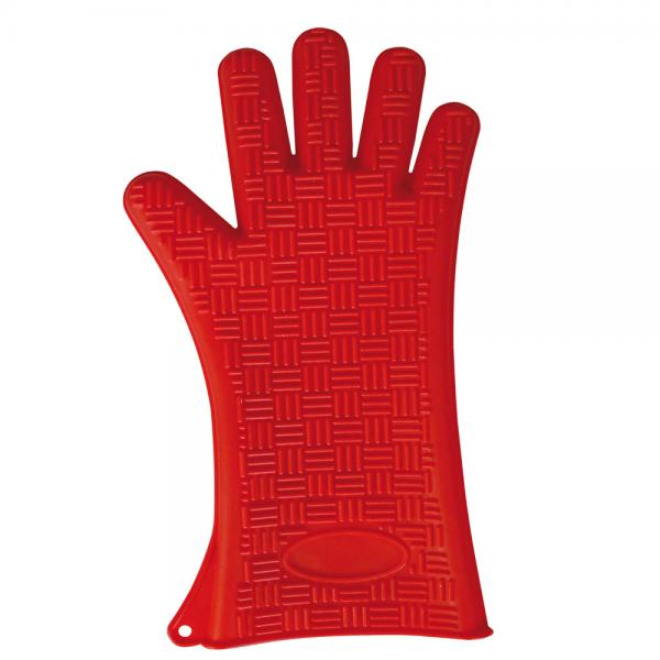 Hitzeschutzhandschuh aus Silikon HEATBLOCKER rot 35 cm
