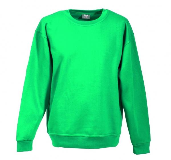 Langarm Sweat-Shirt mit Rundkragen smaragd XS - 5XL