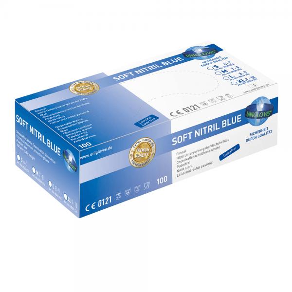 Nitril-Handschuhe Soft Nitril Blue Premium