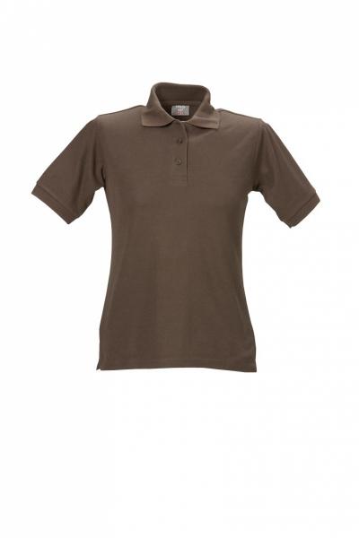 Damen Polo-Shirt braun