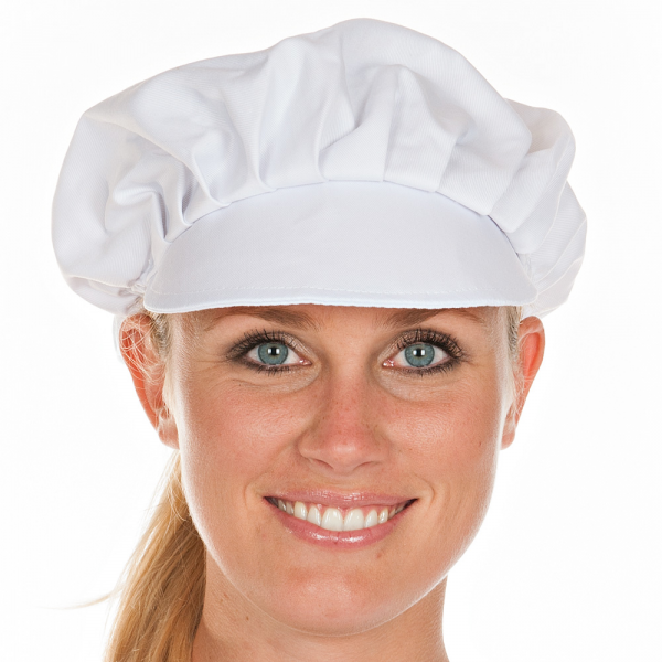 Schirmmütze für Damen Ø 62 cm, weiß