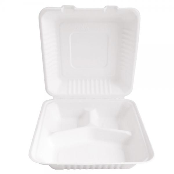 BIO Lunchbox 3-geteilt 22,5x20cm von NATUREStar- VE 200 Stck.