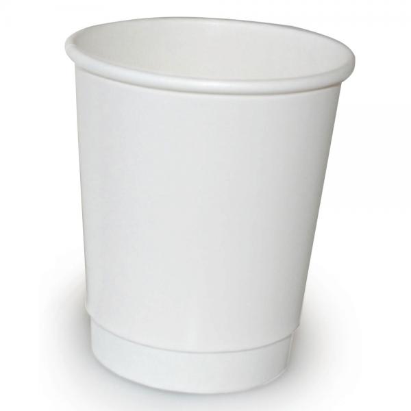 Heißgetränke-Becher BIPP - doppelwandig - 0,2 l, weiß