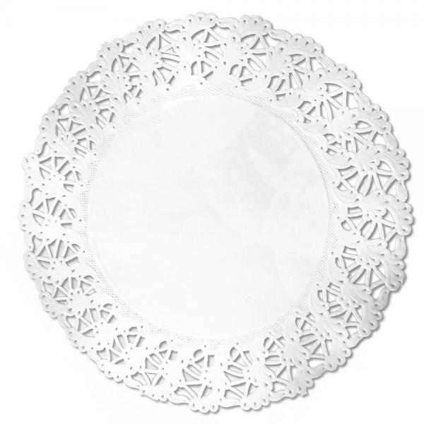 Tortenspitzen weiss rund Ø 20 cm weiß