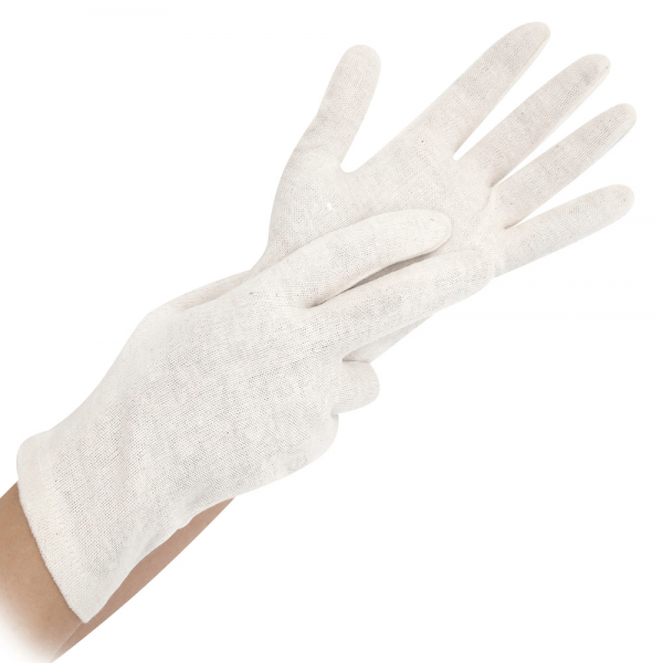 Baumwoll-Handschuh NATURE, 25 cm, natur