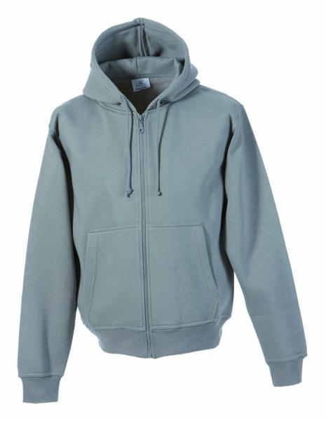 FaPak Sweatshirtjacke mit Kapuze grau von MS-Textilhandel