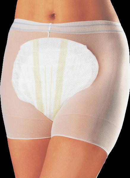 Netzhosen Seni Fix Panty, Gr. M, weiß