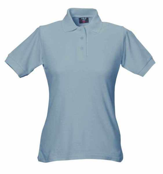 Damen Polo-Shirt grau XS - 5XL
