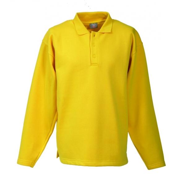 Langarm Polo-Sweat-Shirt gelb