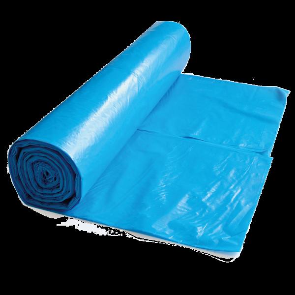 HDPE Müllbeutel 120 l auf Rolle blau