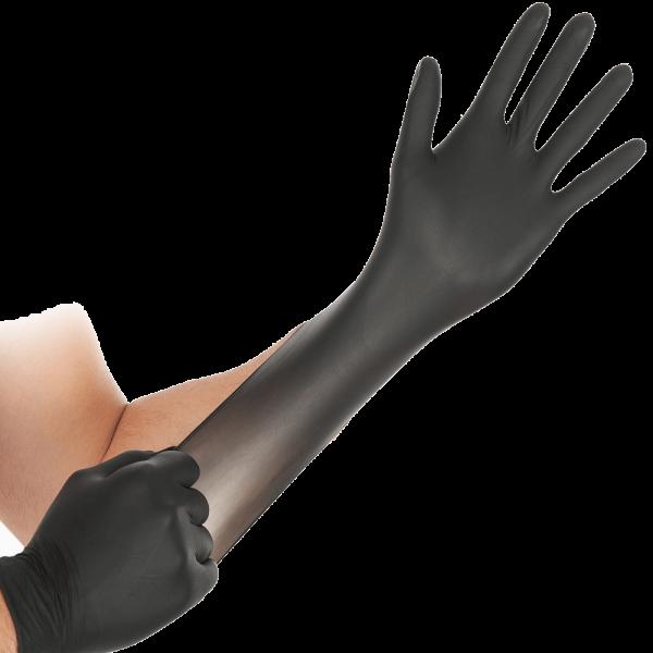 Nitril-Handschuh SAFE SUPER STRETCH, puderfrei, 24 cm, schwarz